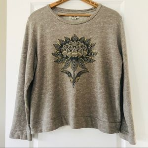 Lucky Brand Lotus sweatshirt w lotus graphic